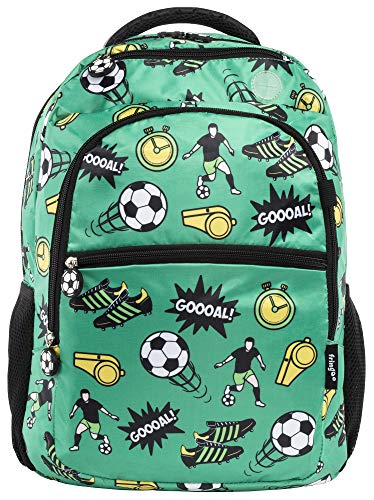 Mochilas Escolares Mochilas petate ni/ños Lote de 20 Mochilas Football con Cordones Negro Mochilas para ni/ños de Futbol