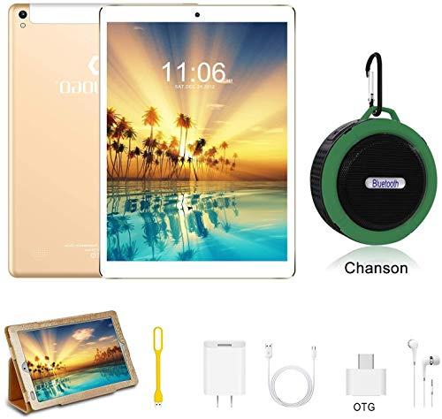 tablet onda 10 pollici Tablet 10 Pollici con wifi offerte Android 9.0 4GB RAM + 64GB ROM 4G Dual SIM 7500mAh Tablet Pc con 3 Slot (Dual SIM + SD) Youtube/Netflix/GPS/OTG/Altoparlante Bluetooth (Senza tastiera e mouse)