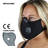 Mascherina Viso Antismog Sportiva 2ªgen. N99   Filtro Carboni Attivi 5 Strati PM 2.5 E Valvole  ...