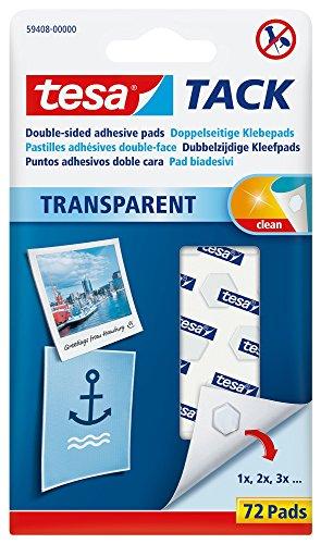 Tesa Tack Pack de 72 Pastilles Transparent, 594080000000