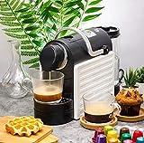 LKOER Máquina de café Totalmente automática Máquina de café Espresso Oficina en casa Empranque de un Solo botón 37x13x22cm (Blanco) jinyang