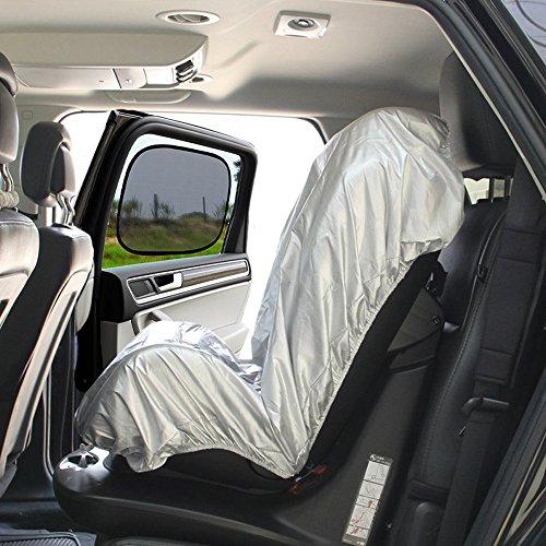 Big Ant Kindersitz Sonnenschutz, Kindersitz Abdeckung Auto Sitzbezug Sonnenschutz Kindersitze UV-Schutz Bezug + Auto Seitenscheiben Sonnenschutz Gegen UV, Staub Passt für Alle Kindersitze