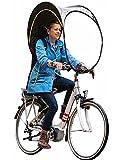 Bub-up Regenschutz für Fahrrad, ersetzt Regenbekleidung (wasserdicht, Jacke, Cape, Parka, Poncho...) (blau-gelb)