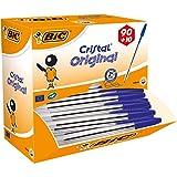 BIC Kugelschreiber Cristal Value Pack – 100 Kulis in Blau – Strichstärke 0,4 mm – Dokumentenecht