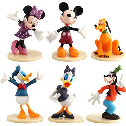 WENTS Mickey Mini Figuren Set Geburtstags Party liefert Cupcake Figuren Party Kuchen Dekoration Cake Topper Lieferungen Cake Topper 6 Stück