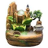 Küche Haushalt Wohnen Zimmerbrunnen Europäische Steingarten Brunnen Desktop Fengshui Ornamente Nr. 6660 Künstliche Innenluftbefeuchter Dekoration (Größe : S)