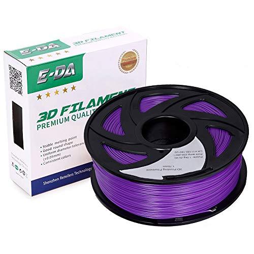 E-DA PLA+ Filament 1.75mm 1KG PLA Plus 3D Printer Filament Suitable for Most 3D Printers (Purple)