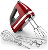 Includes hand mixer, turbo beater accessories, liquid blender rod, dough hooks, whisk, and accessory bag Locking swivel cord for easy right- or left-handed use beautiful Empire red swivel cord