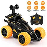 Ehpow Remote Control Car, 2.4Ghz Remote Control Stunt Car 360°Rotating RC Car for Kids, Toy Cars for Boys and Girls Gifts (Orange)