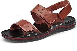 Sandales de plage décontractées pour hommes, chaussures à fond souple d'été de grande taille, bout en PU respirant et anti...