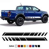 SBCX Para Ford F150 Raptor Ranger T6 T7, 2 Piezas de Puerta de Coche Rayas Laterales Falda Pegatina Vinilo Cuerpo calcomaníaAccesorios