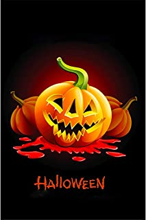 ASOONYUM Halloween Yard Garden Flag Double Sided 12X18, Three Colors Ghost Banners for Home, House, Pumpkin Outdoor Decor, Holiday Decorative