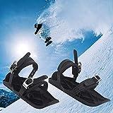 Mini patines de esquí, mini botas de esquí portátiles Patines de combinación duraderables ajustables con esquís al aire libre Esquí al aire libre Tarjeta de nieve Tarjeta de nieve Tamaño universal par