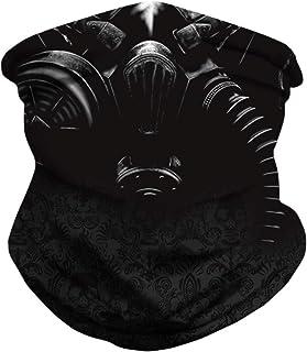 DUOLIFU Seamless Rave Bandana Face Mask Neck Gaiter Scarf Headwear Balaclava for Men Women Dust Wind Sun Protection