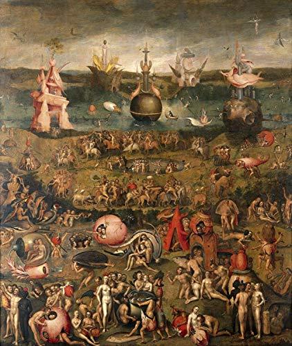 Hieronymus Bosch Giclee Lienzo Impresión Pintura póster Reproducción Print(El jardín de Las delicias terrenales) #XFB