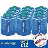 Bricolemar Cartucho CV 470 Campingaz (Pack de 12 Unidades en Caja Edición Llavero Abrebotellas Rojo Gratis!)