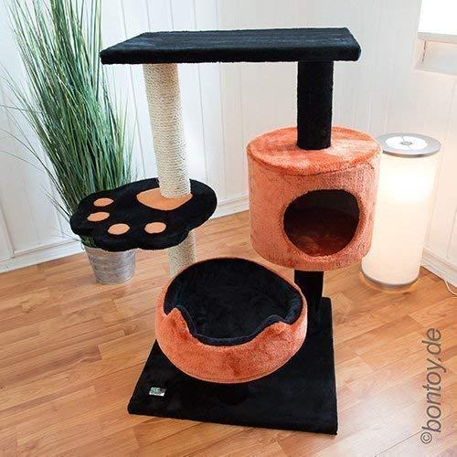 Botoy Kratzbaum Romy schwarz/orange 80cm