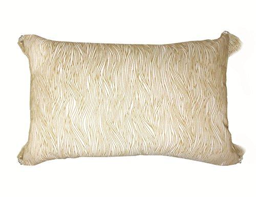 Lancashire Textiles Palermo Naturel 34 cm x 53 cm Boudoir Tassel Housse de Coussin Uniquement