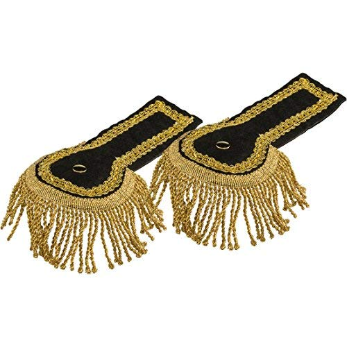 Uniform Epaulettes Epaulets Fringe Shoulder Pieces Captain Pieces Officer Shoulder Rank Military Costume Accessories Carnival Costumes Accessories