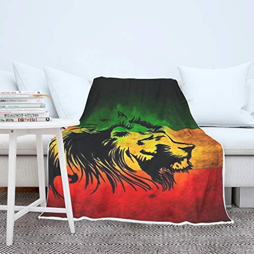 BOBONC Tiger Lion Animal Decke, Neuheits aus samtweichem Plüsch TV-Decke, Flauschige kleine Wärmedecke in vielen Größen erhältlich White 150x200cm