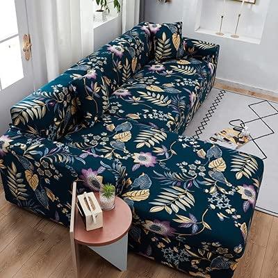 Enfärgat elastiskt sofföverdrag spandex modern polyester hörnsoffa sofföverdrag stolskydd vardagsrum A13 2-sits