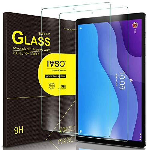 IVSO Panzerglas Kompatibel mit Lenovo Tab M10 HD (2nd Gen) 2020, 2.5D Bildschirmfolie, 9H Festigkeit, Bildschirmschutzfolie Glass mit Lenovo Tab M10 HD 2. Gen (TB-X306X / TB-X306F) 10.1 Zoll, [2-Stück]