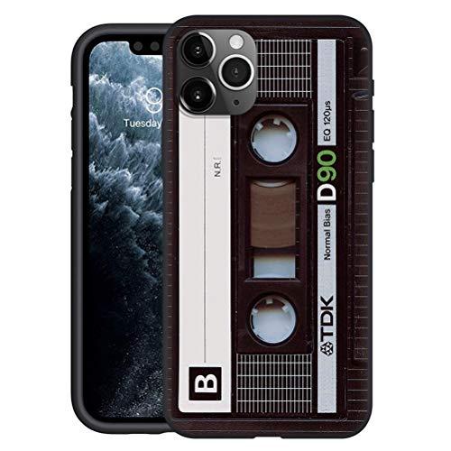 Yoedge Negro Custodia para Huawei Mate 10 Pro 6″ Dibujos Animados Carcasa de Silicona Case Protectora de TPU Suave Protección Cover para Huawei Mate10 Pro Teléfono Carcasas Fundas,Cinta de Audio 2