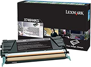 X746H4KG Black 12000 Page Yield Toner Cartridge for Lexmark X746 and X748 Printers