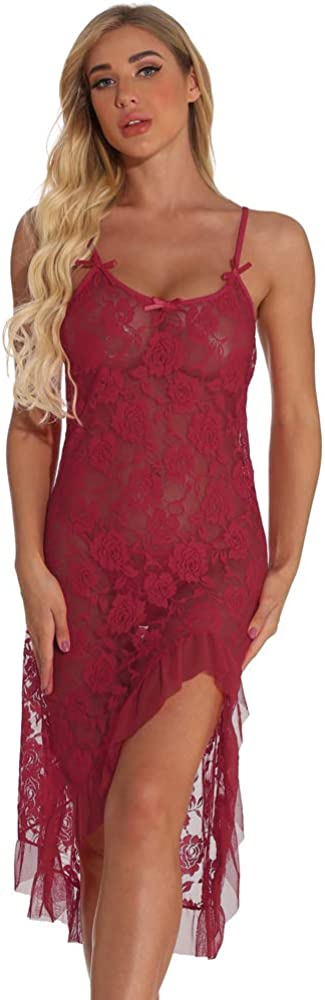 titivate Cami Nightgown Babydoll Lace Floweral Pattern Sleepwear