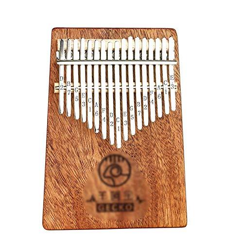 ZIEO Pocket Thumb Finger Piano17 Tasten Kalimbas Finger Daumen Klavier Holztastatur Finger Daumen Klavier