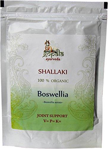 Shallaki (Boswellia serrata) en polvo BIO (250 gr), Planta ayurveda para el dolor artrítico, Regeneración celular, Sumplemento vitamina C natural, Certificado ecológico, 100% Vegano, En polvo (250 gr)