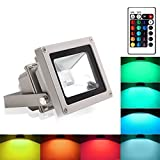 Blinngo led Scheinwerfer spotlight rgb led Strahler LED Fluter 10W flood light Outdoor Waterproof...