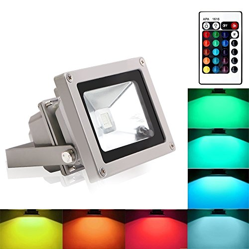 Blinngo 10W RGB Foco LED Proyector de Exterior impermeable IP65 LED Foco...