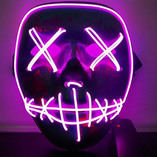 Qlan Halloween Scary LED Maschera Costume El Wire per Festival Party