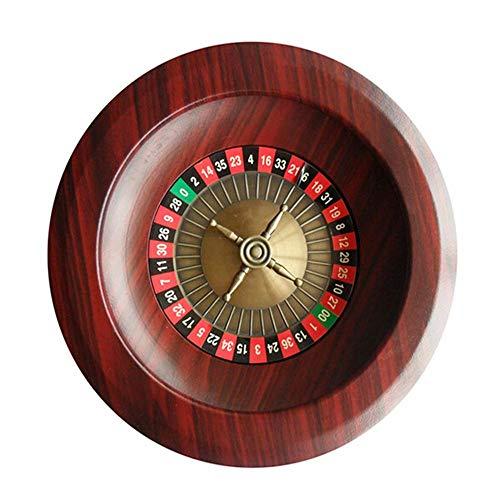 WHCL Rueda de Ruleta de Madera, GRADA DE Casino DE 12 INCULRÍAS GRADA Deluxe Game Turnible, dial Digital Grande Ruleta Rusa para Juego en casa Club de Noche Fiesta, Brown