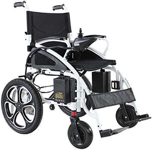 Y DWAYNE Sedia A Rotelle Elettrica Pieghevole Sedia A Rotelle Elettrica per Anziani Disabili Automatica Multifunzione con Schienale Alto