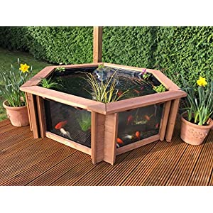 Clear View Garden Aquarium Lily Raised Pond with Fountain/UV Filter - Raised Pond Pack