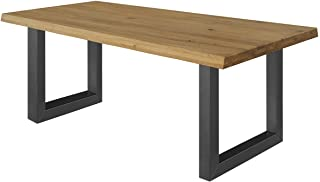 estructura de mesa ajustable: no regulable en altura patas de metal altura regulable dise/ño industrial Patas de mesa en U negras dimensiones: 400 x 640 mm