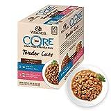 Wellness CORE - Juego de 6 Bolsas para Comida de Gato Mojado, sin Grano, 85 g