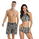 Ulikeey Matching Swimsuit for Couples Leopard Mens Trunk Women 2...
