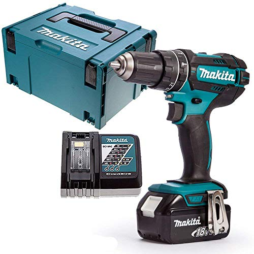 Makita DHP482Z LXT 18V Combi Drill with 1 x 5.0Ah Battery, Charger, Case & Inlay, 18 V