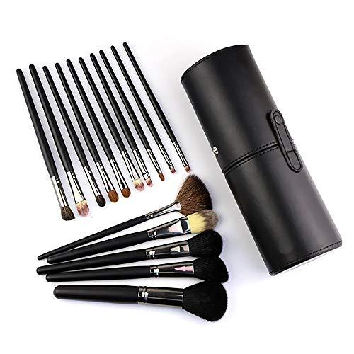 Set Brosse Portable, Brosse Cosmétique 15 Brosse De Maquillage Professionnel Avec Poignée En Bois Barils Outils De Maquillage Mixte De Beauté Beauté
