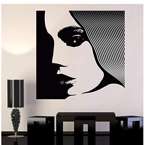 XXSCZ Vinyl Muursticker Supermodel Vrouw Schoonheid Salon Kapper Stickers Shop Raamdecoratie Behang 74x74cm
