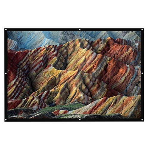 "Thinkga 84"" Outdoor Projector Screen, Foldable Material Fabric"