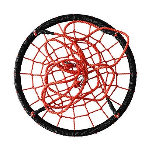 HGDD Columpio Infantil Los niños oscilan el Swing de Cuerda Redondo, Web con Cuerdas Ajustables, Ideal para Juego de Swing, Patio Trasero, Parque Infantil, Sala de Juegos (Color : Red, Size : #1)
