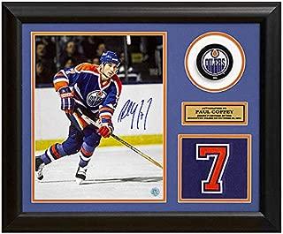 Paul Coffey Edmonton Oilers Autographed Signed Memorabilia Retired Jersey Number 23X19 Frame