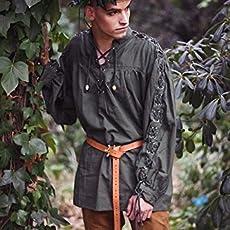 Camisa medieval de Hombre renacentista larp pirata: Amazon.es: Handmade