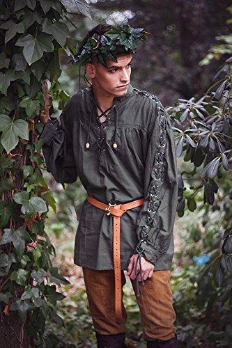 Camisa medieval de Hombre renacentista larp pirata : Amazon ...