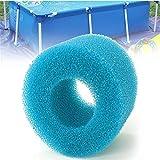 GIlH Cartouche filtrante réutilisable en mousse lavable pour jacuzzi type Intex S1...