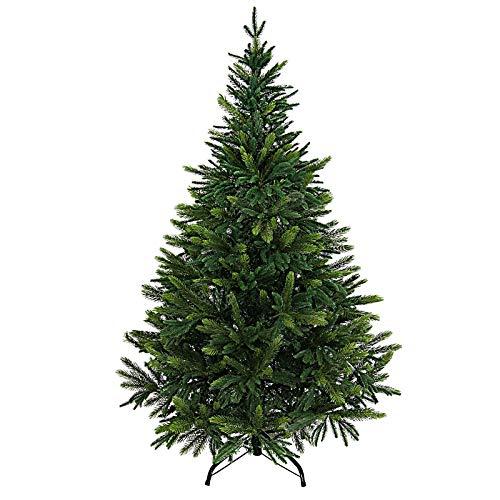 BB Sport Luxus Christbaum 150 cm Mittelgrün/Douglasie künstlicher Weihnachtsbaum PE/PVC Spritzguss Mix Tannenbaum Standfuß